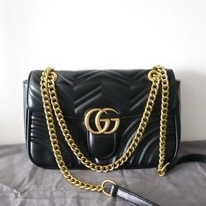 Gucci GG marmont 2.0 crossbody black